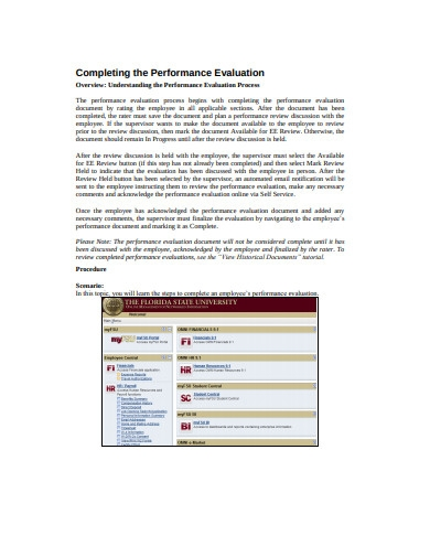 completing performance evaluation process in pdf