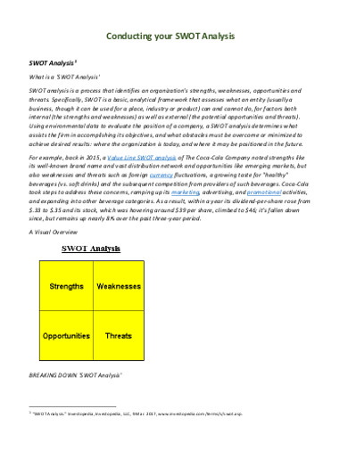 conducting company swot analysis