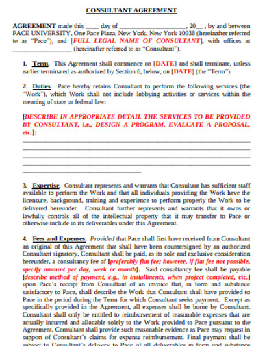 consulting agreement template format