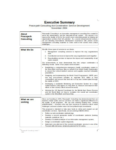 consulting business plan template in doc