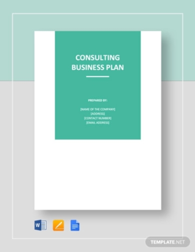 consulting business plan template