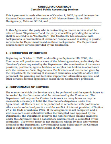 consulting contract template format