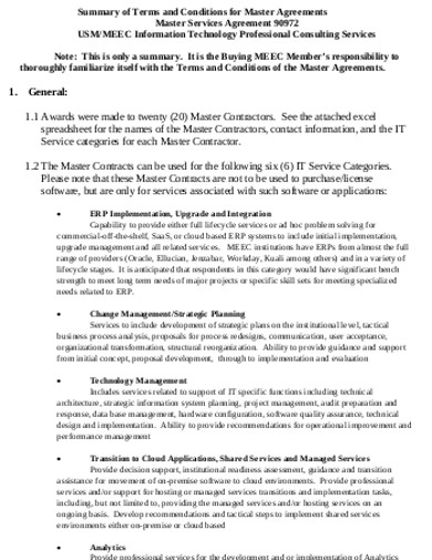 consulting master contract template