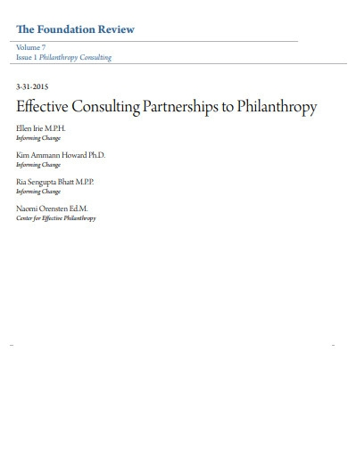 consulting partnerships work plan