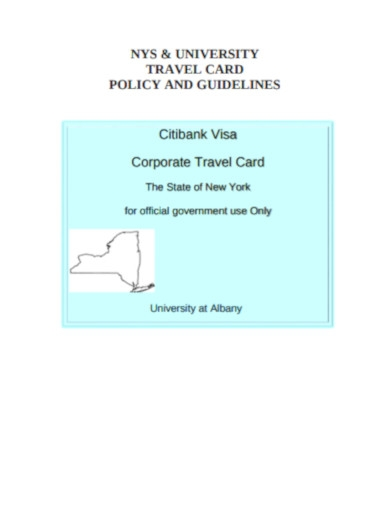 corporate travel card policy