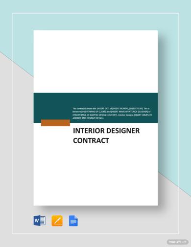 creative interior designer contract