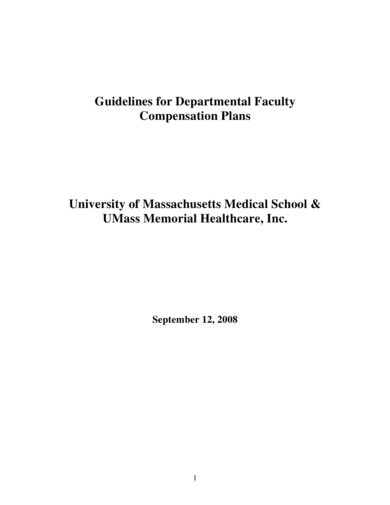 departmental faculty compensation plan