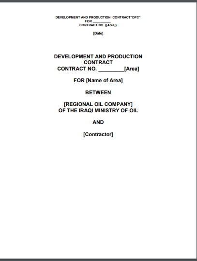 development and production contract