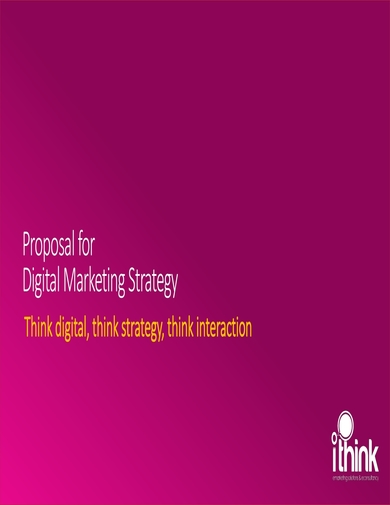 digital marketing strategy proposal