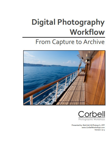 digital photography workflow example