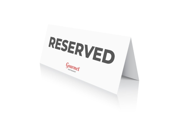 double sided reserved sign