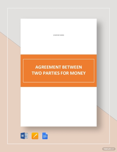 editable agreement between two parties for money