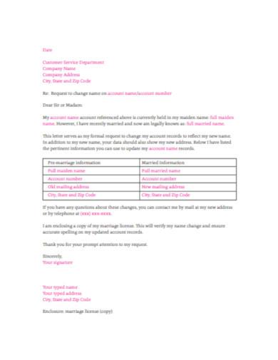 editable company name change letter