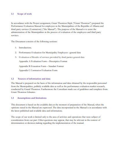 employee performance evalution manual