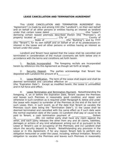 end of lease agreement letter to tenant