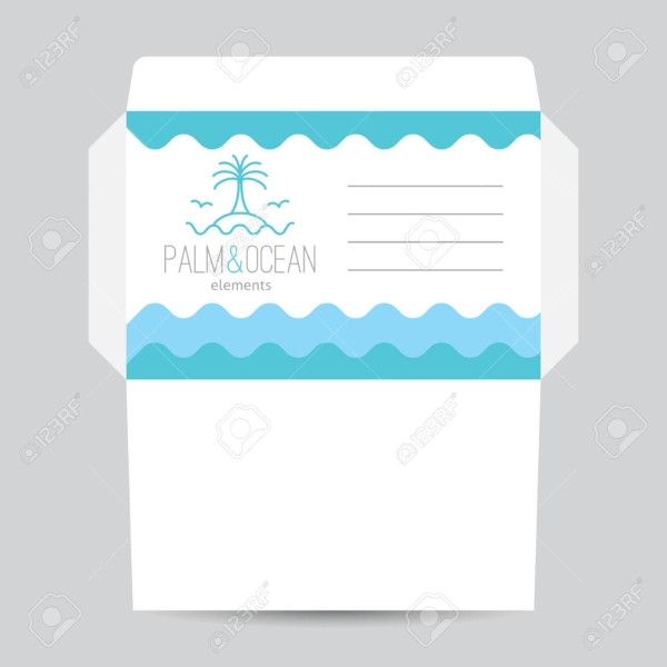 envelope template for travel agency