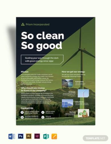 environmental company flyer template