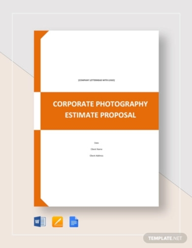 estimate proposal template