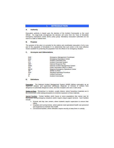 evacuation plan in pdf
