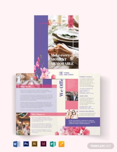 event company bi fold brochure