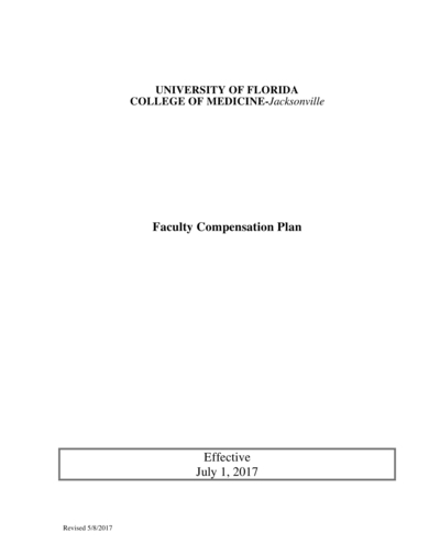 faculty compensation plan