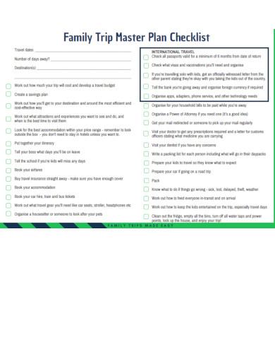 family travel planning checklist