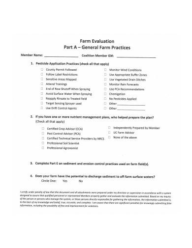 farm evaluation survey