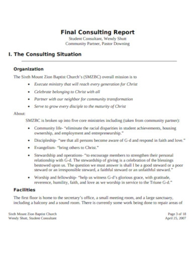 final consulting report template