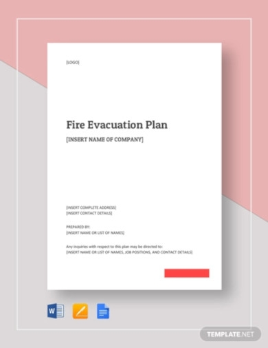 fire evacuation plan template