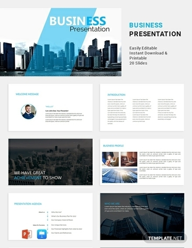 formal business proposal presentation