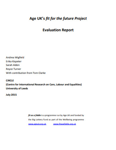 formal project evaluation report