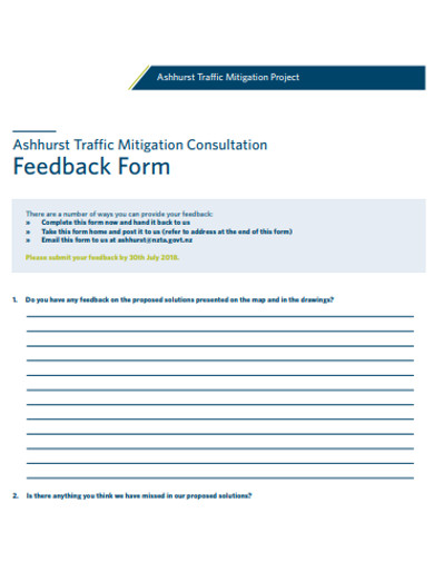 formal project feedback