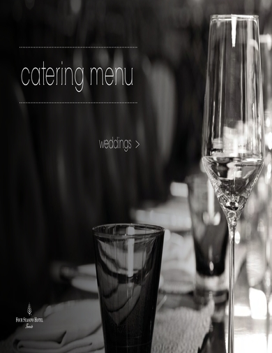four seasons hotel catering menu for weddings