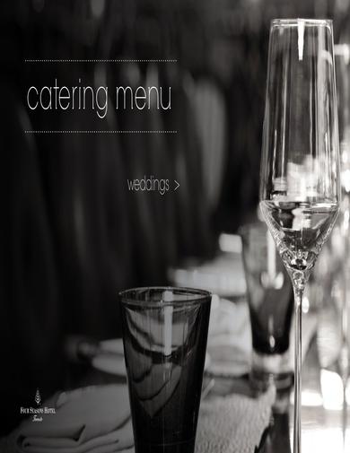 four seasons hotel catering menu for weddings