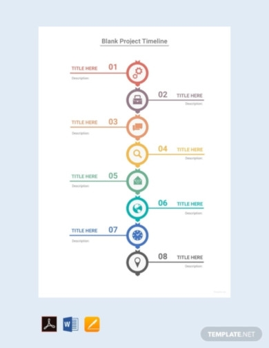 free blank project timeline template