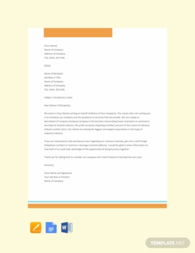 free company introduction letter sample