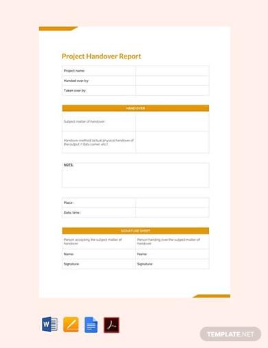 free final project handover report
