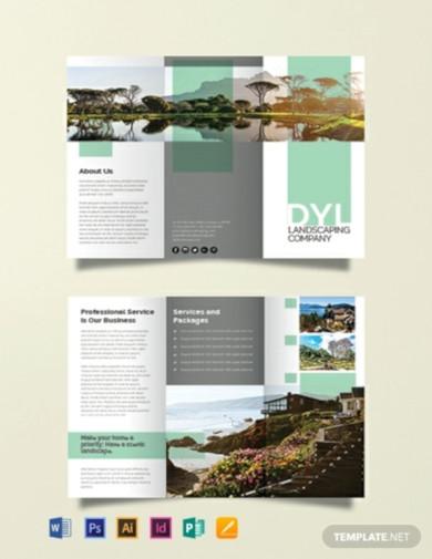free landscape company brochure