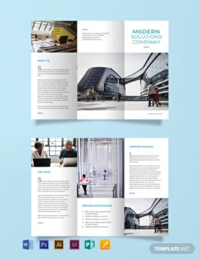 free modern company brochure