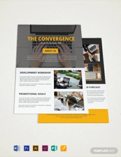 free one page company brochure