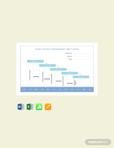 free yearly project management gantt chart template1