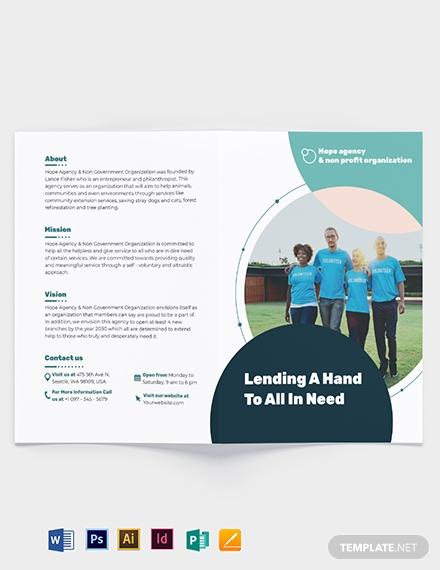 fundraising bi fold brochure template
