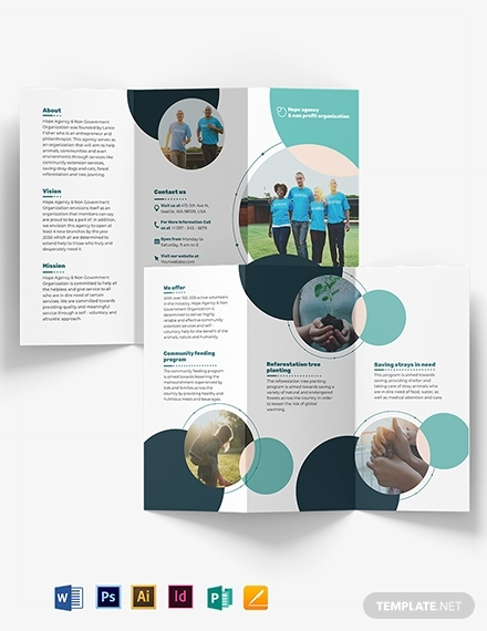fundraising tri fold brochure template