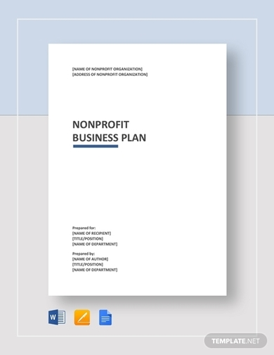 general nonprofit business plan template