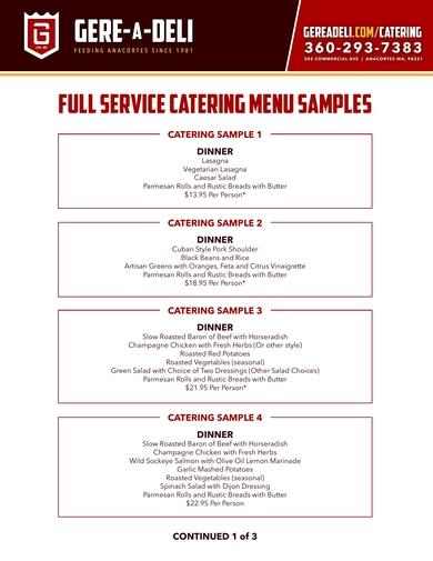 gere a deli compact catering menu
