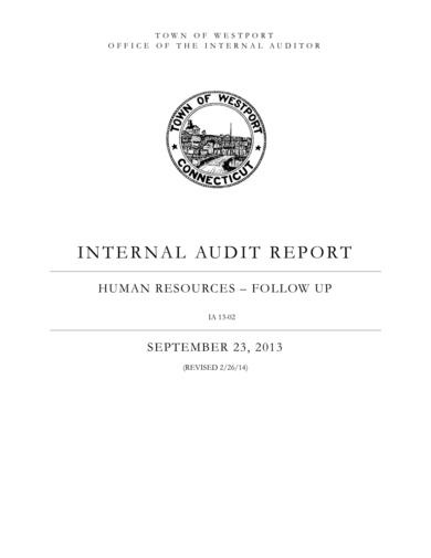 hr audit report sample