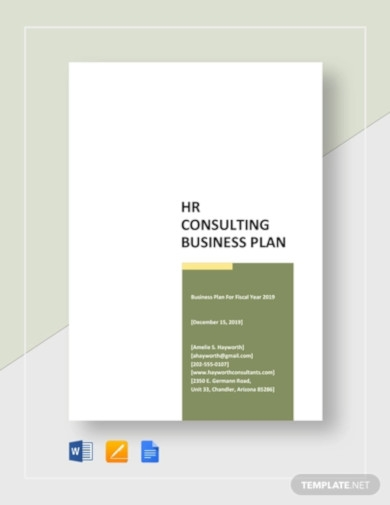 hr consulting business plan template
