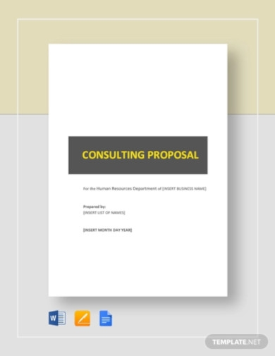 hr consulting proposal template