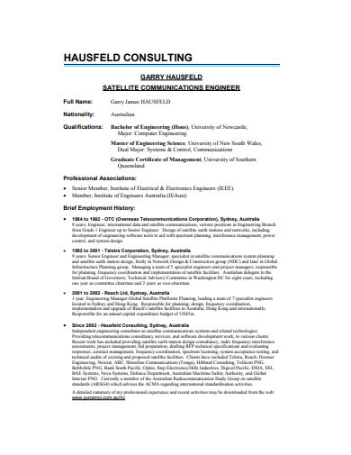 hausffld consulting resume