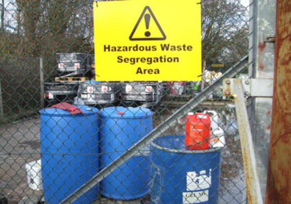 hazards warning sign